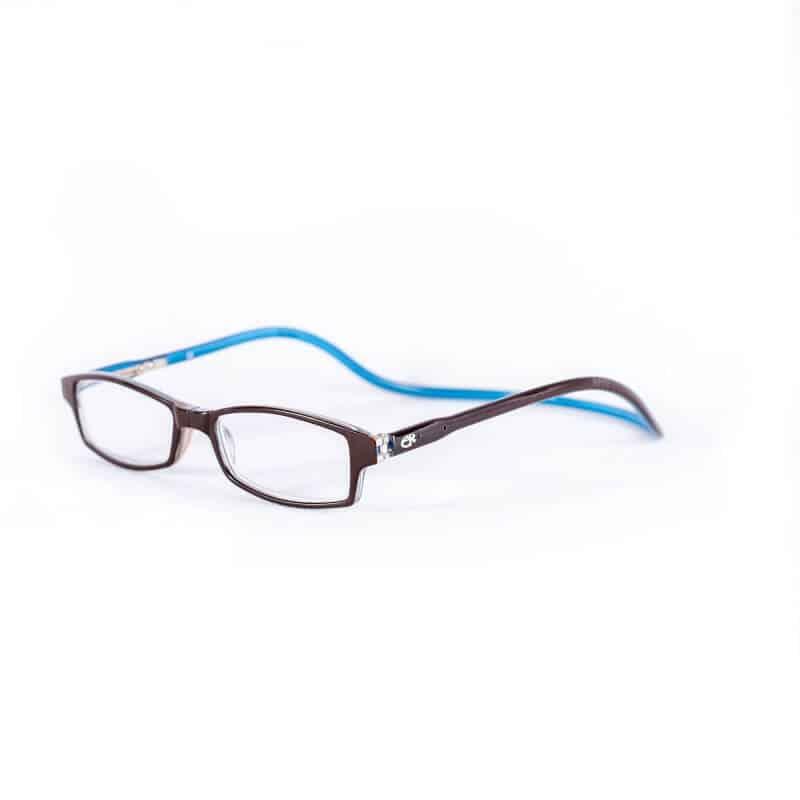 Easy Reader Clic magneetbril Blauw bruin