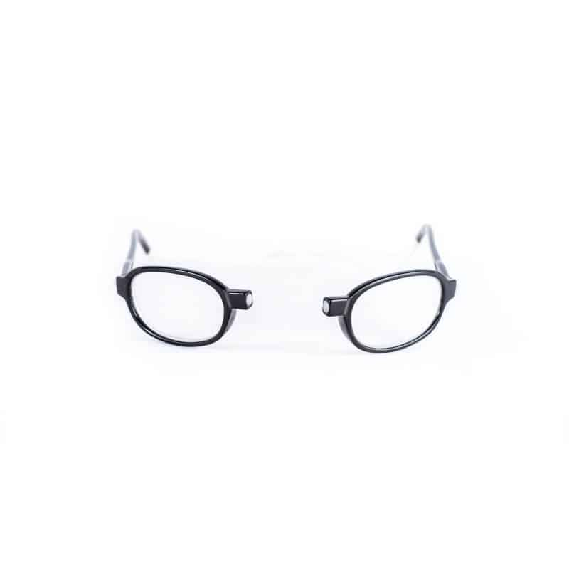 Easy Reader Clic magneetbril Zwart Rond