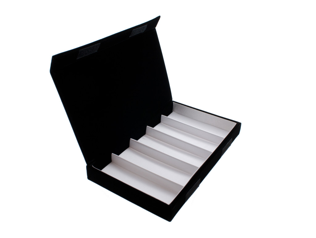 POS119 Brillenbox 5 pcs. – Zwart fluweel