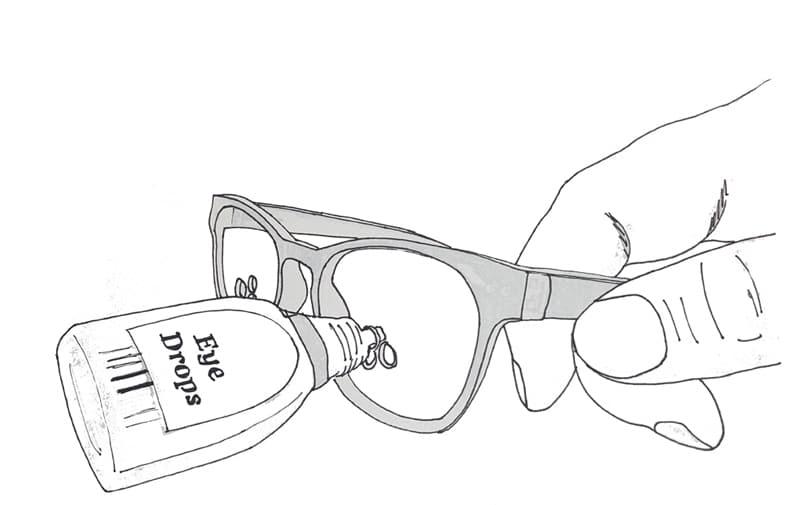 Eyedrop bril