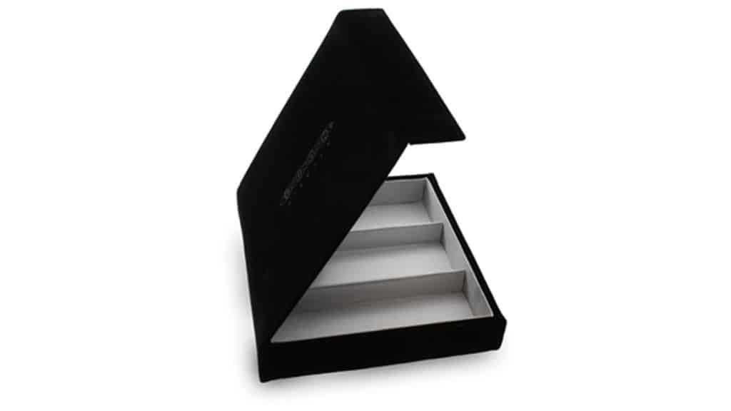 POS118 Brillenbox 3 pcs. Zwart fluweel