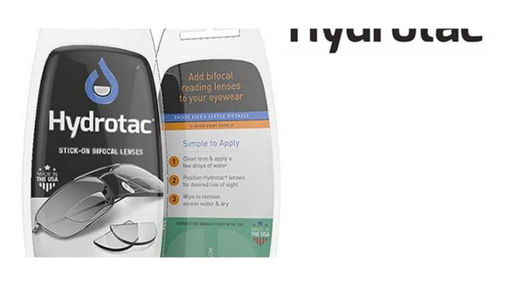 Hydrotac Stick-On bifocale lenzen